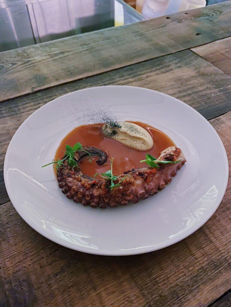 Lila Restaurant octopus